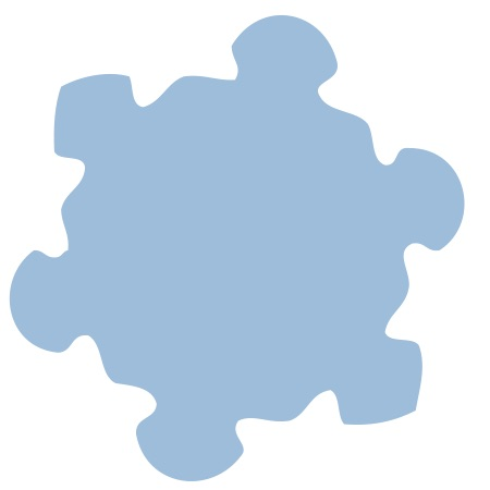 Blue Snowflake Small 40 Shapes