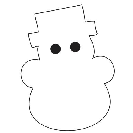 Snowman White Medium 40 Shapes