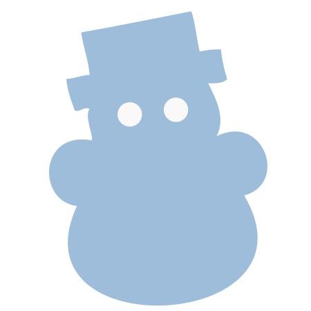 Snowman Light Blue Medium 40 Shapes