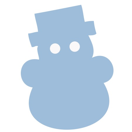 Blue Snowman Small 40 Shapes