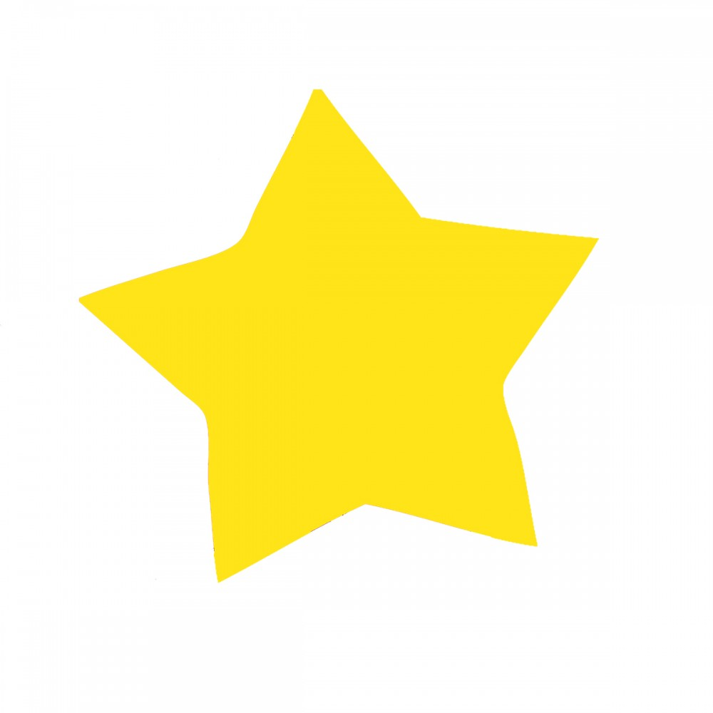 Star Yellow Medium 40 Shapes