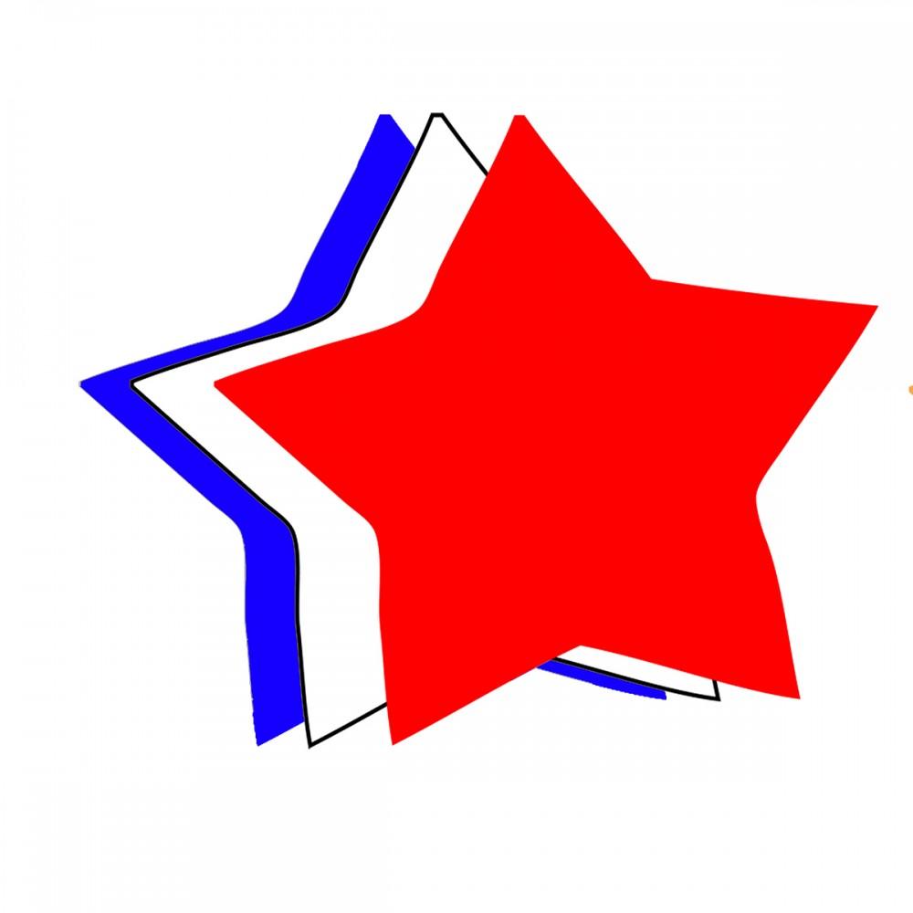 Star Patriotic Medium 40 Shapes