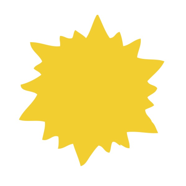 Yellow Sun Small 40 Shapes