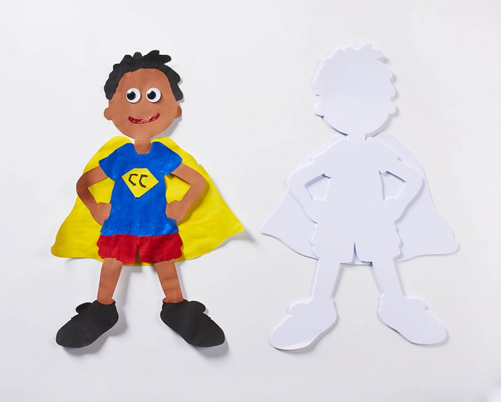 Super Hero and Cape Super Doodles 40 Shapes