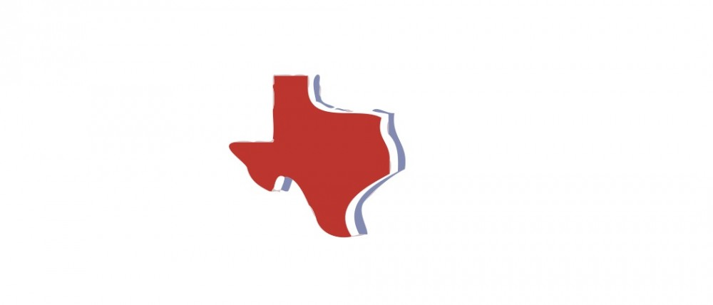 State of Texas Patriotic Small 40 Shapes
