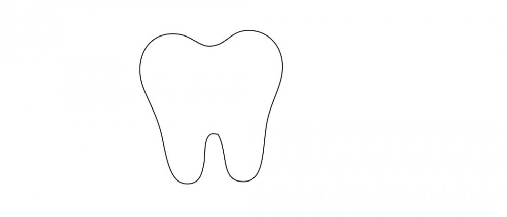 Tooth White Medium 40 Shapes