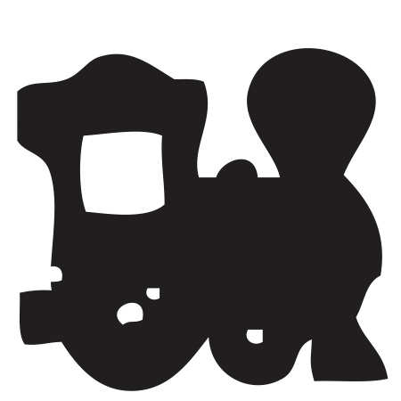 Black Train Engine Small 40 Shapes