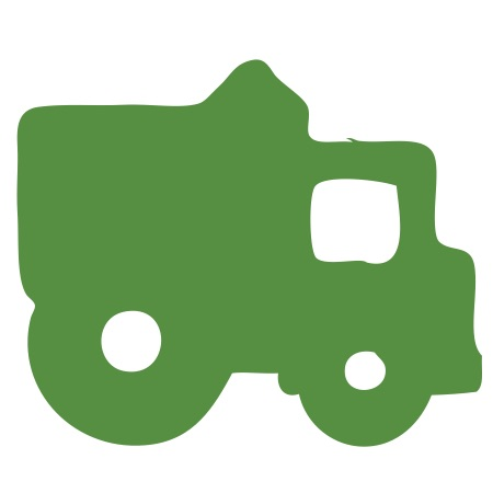 Dump Truck Green Small 40 Shapes