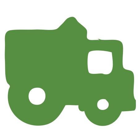Dump Truck Green Medium 40 Shapes