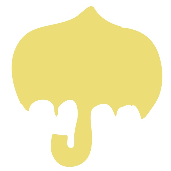 Umbrella Yellow Medium 40 Shapes